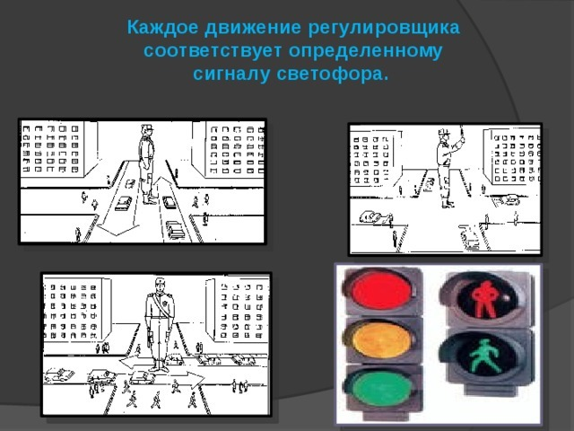 Сигналы регулировщика: пояснения, ориентирование.