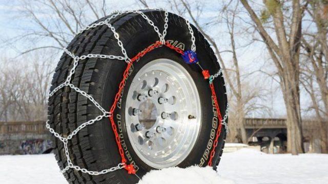 Цепи для колес авто: какие лучше, видео, как одевать на колеса