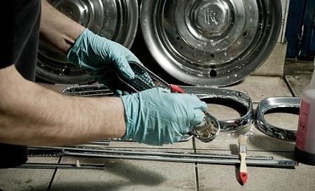 Как восстановить хромированные детали: почистить, отполировать