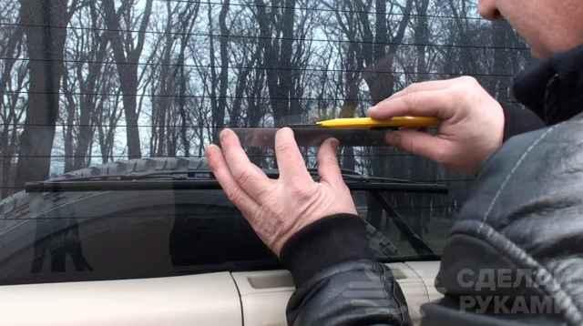 Ремонт обогрева заднего стекла своими руками, видео ремонта нитей