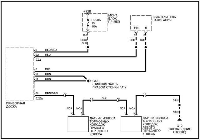 Датчик износа тормозных колодок: устройство, как работает, где находится. Как проверить, если горит индикатор? Замена датчика износа колодок