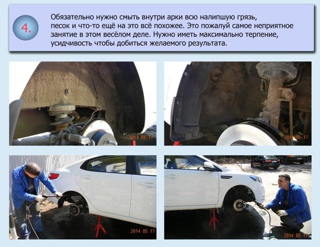 Защита колесных арок, установка подкрылков, шумоизоляция своими руками