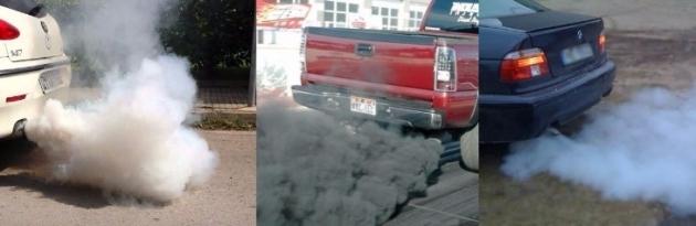 Синий, черный, сизый, белый дым из выхлопной трубы: причины