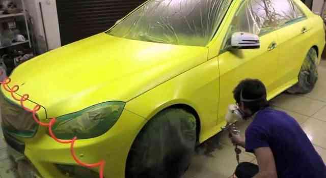 Локальная покраска авто своими руками, видео, покраска переходом