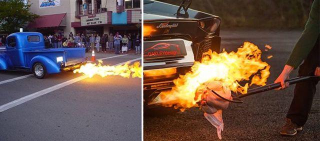 Огонь из выхлопной трубы –