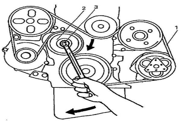 Натяжка ремня генератора: схема, как проверить, правильно натянуть ремень