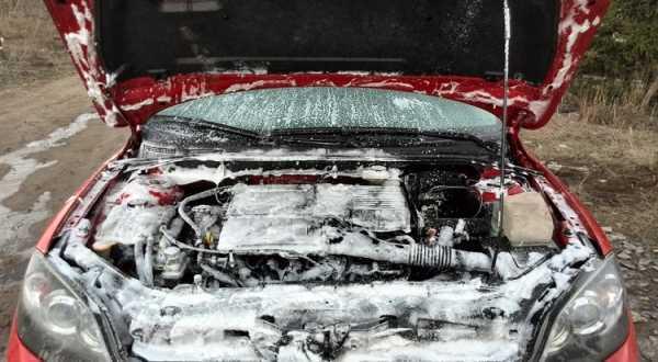 Сухая мойка двигателя льдом и паром: что такое, видео