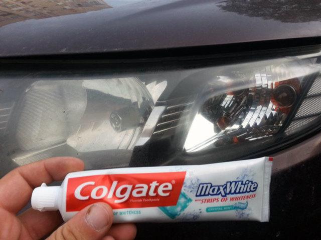 Полировка фар своими руками. Зубной пастой, полиролью.
