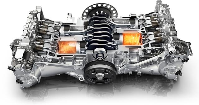 Оппозитный двигатель в современных авто. Конструкция,особенности.